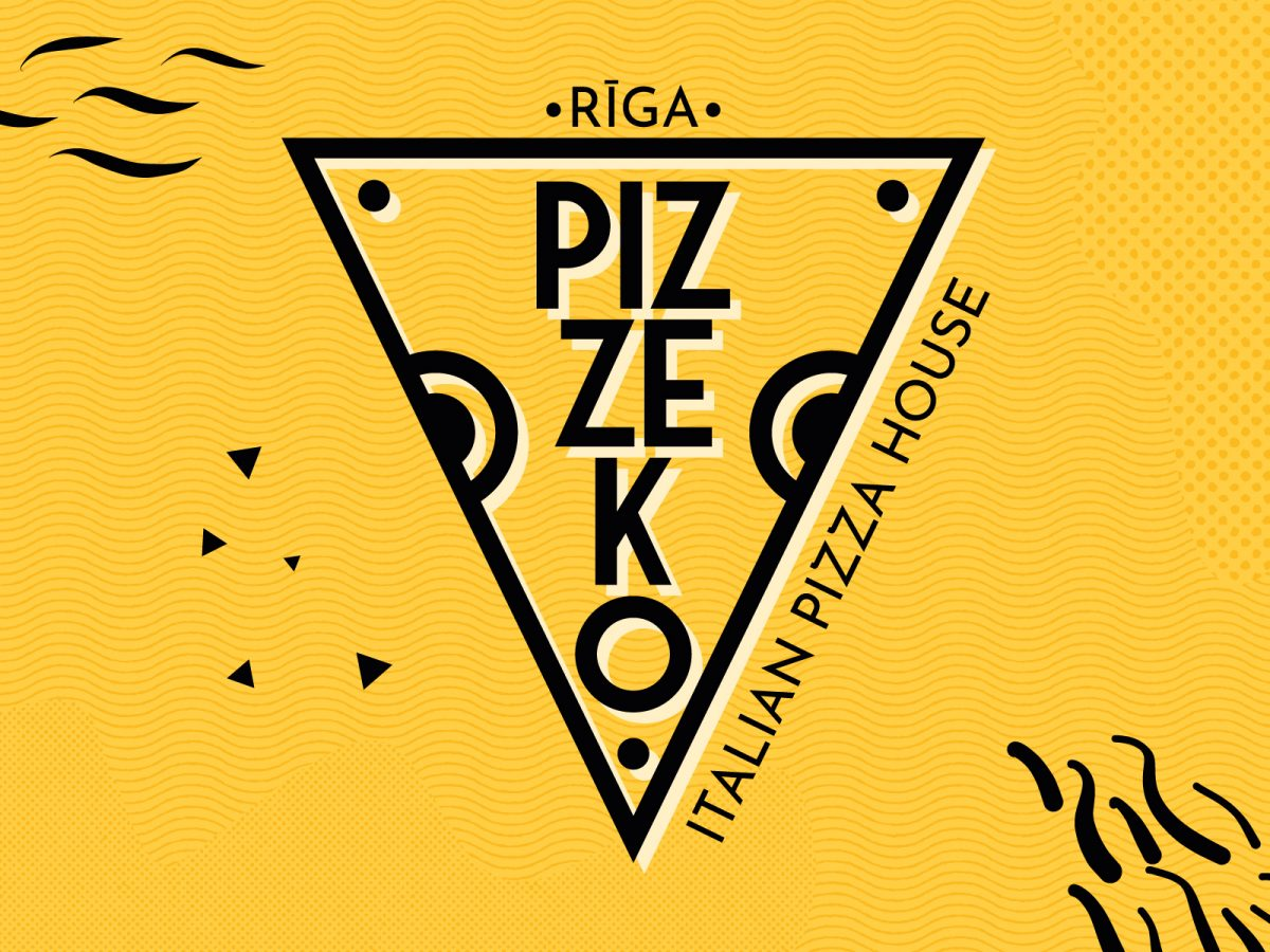pizzeko - branding per pizzeria, Rīga - Lettonia