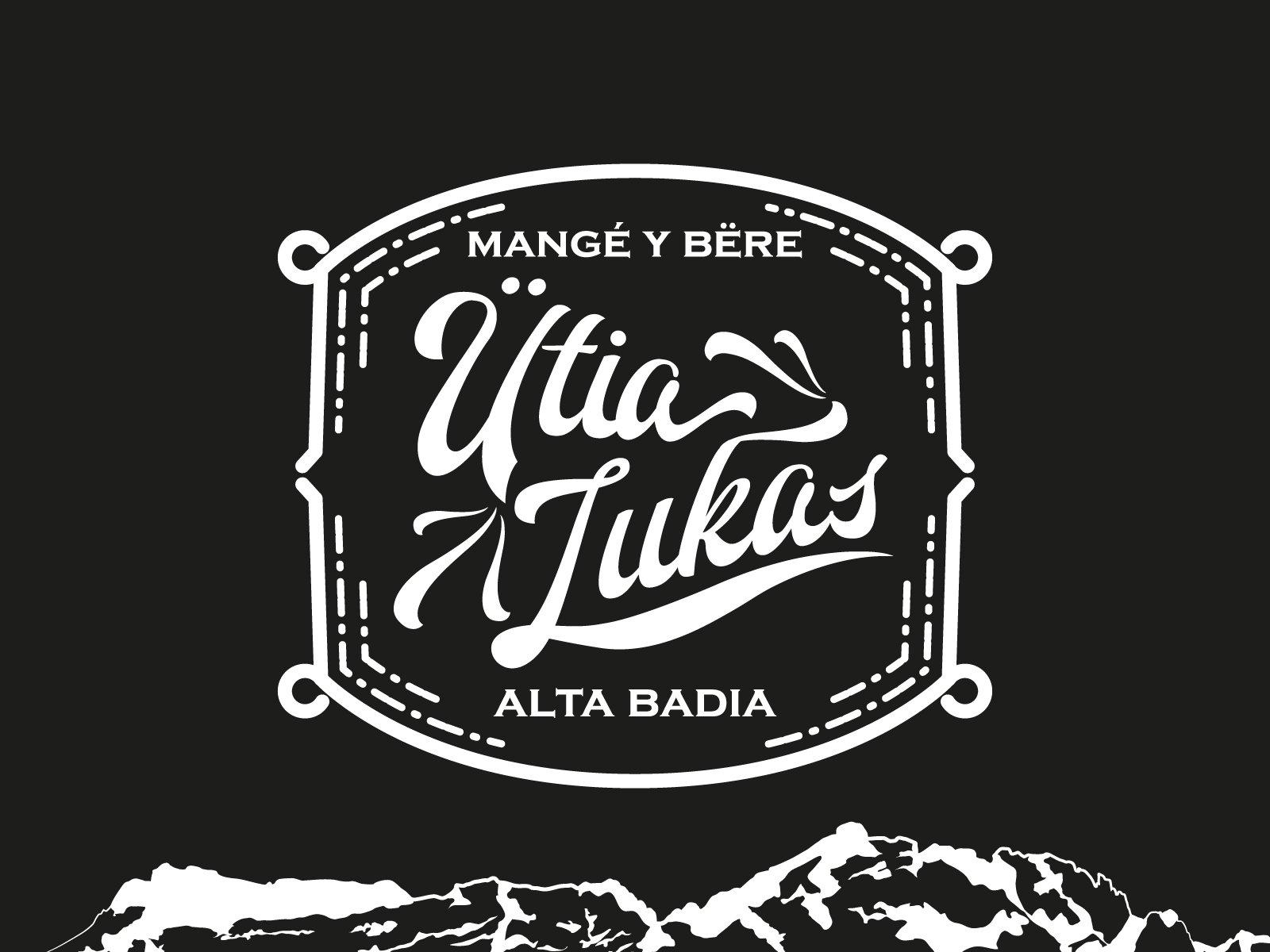 ütia lukas, branding per punto di ristoro, Alta Badia - Italia