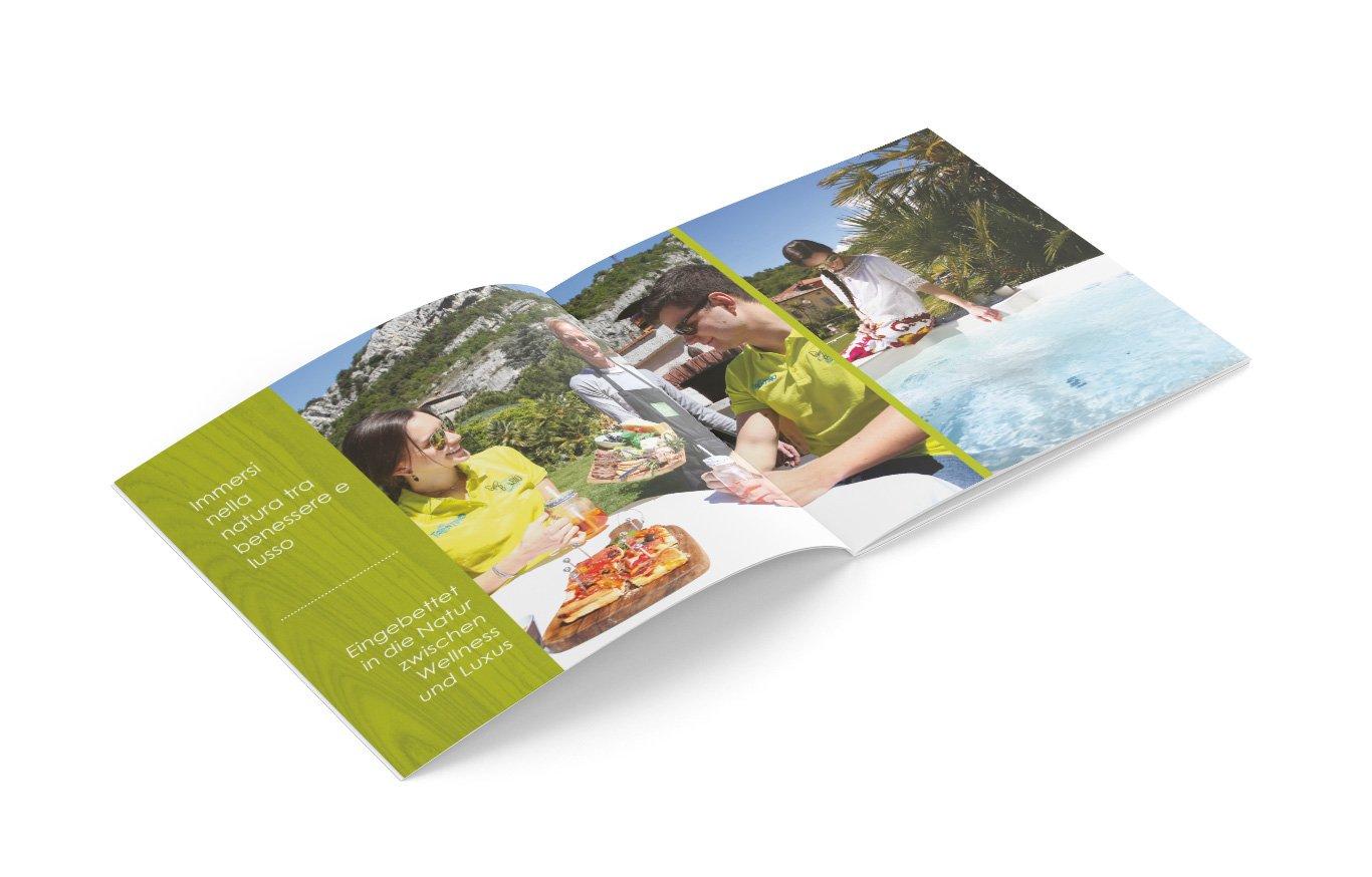 Brochure del bed & breakfast B&Bio Garda Ulivi di Nago-Torbole - monfinedesign
