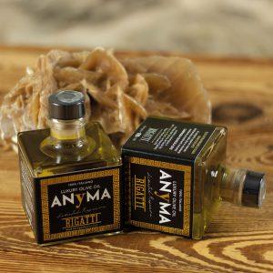 Packaging dell'olio prodotto dall'Azienda Agricola Rigatti di Nago-Torbole - monfinedesign